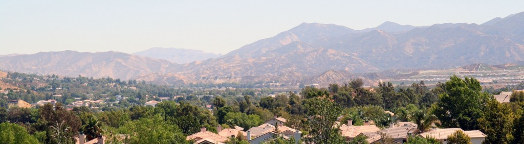 Santa Clarita Valley View and mountains