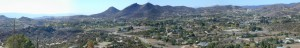Agua Dulce - view of the Agua Dulce Valley towards southeast