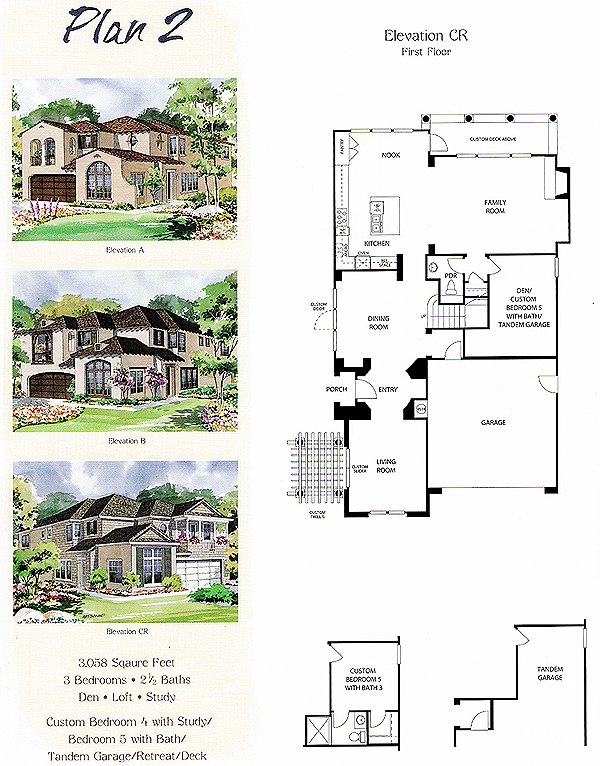 Valencia Bridgeport The Island Tract Plan 2 first floor floor plan