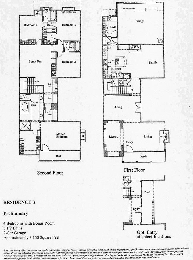 Bridgeport The Landing Residence 3 Floor Plan