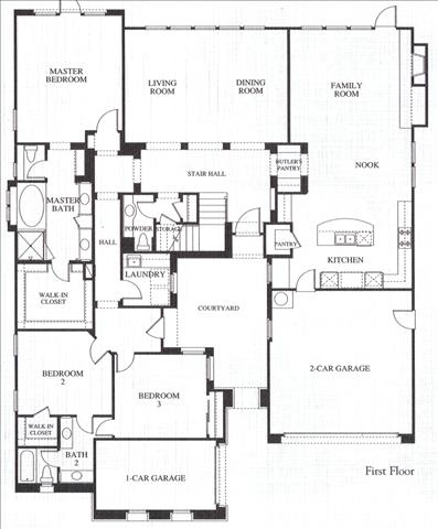 Valencia Westridge Emerald Tract Residence 1 Floor Plan first floor