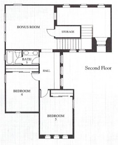 Valencia Westridge Emerald Tract Residence 1 Floor Plan second floor