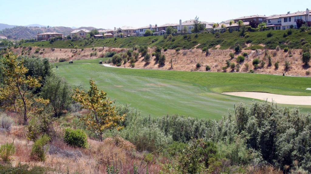 Golf course views fromValencia  Bent Canyon homes