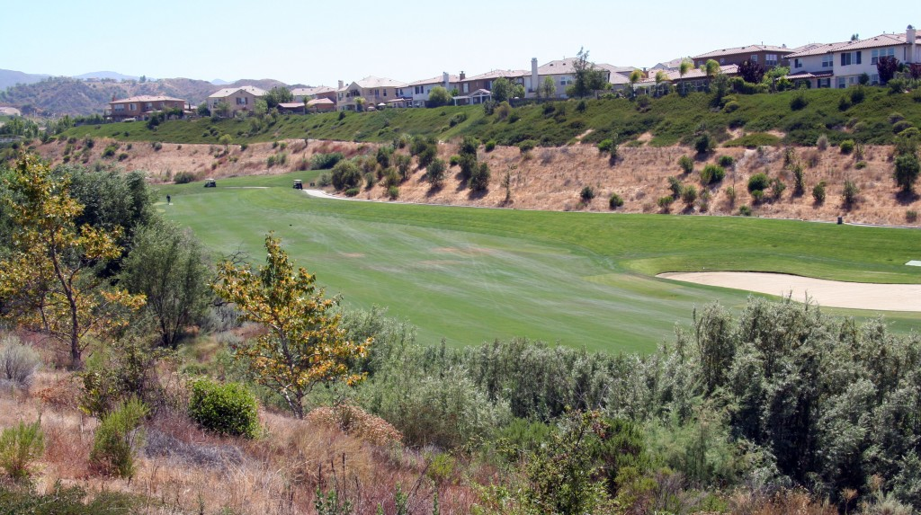 Golf course views fromValencia  Bent Canyon homes