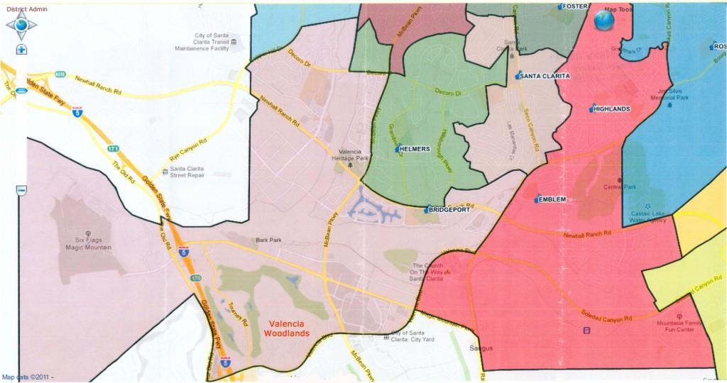 Saugus Union Elementary School District - Bridgeport School boundary