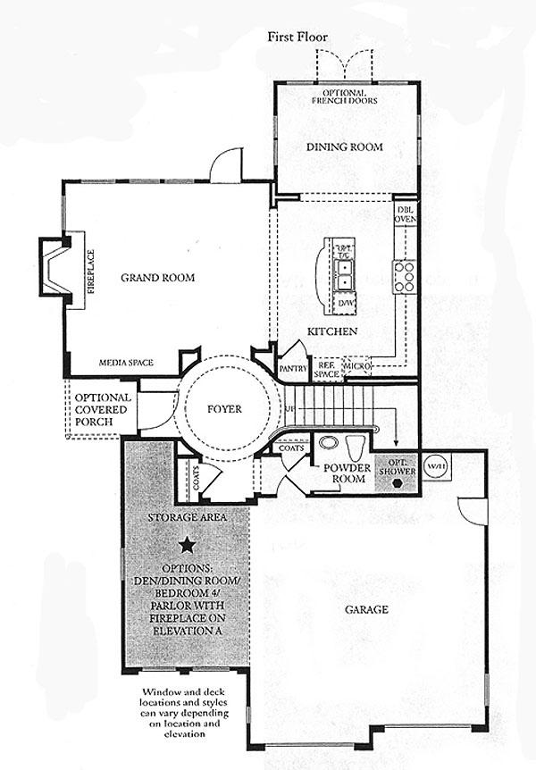 Valencia Bridgeport The Cove Plan 1 first floor floor plan