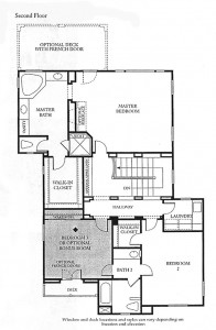Valencia Bridgeport The Cove Plan 1 second floor floor plan
