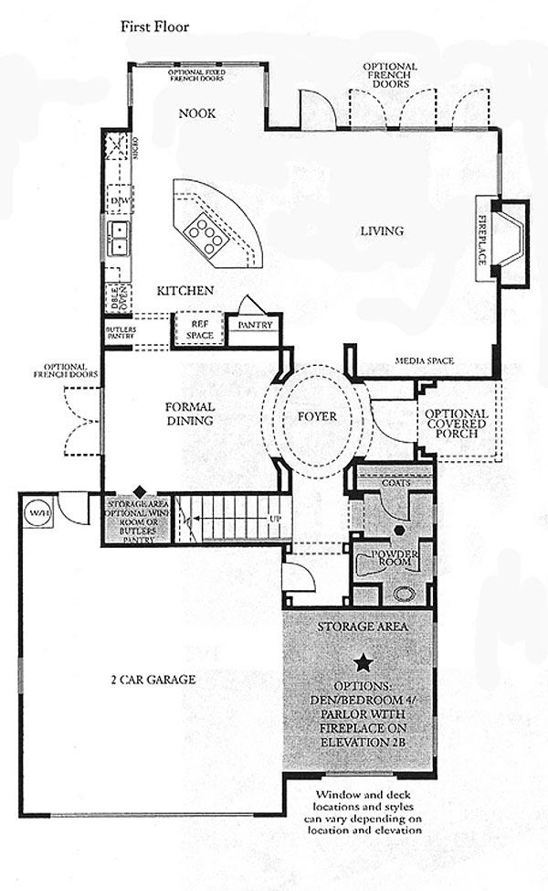 Valencia Bridgeport The Cove Plan 2 first floor floor plan