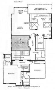 Valencia Bridgeport The Cove Plan 2 second floor floor plan