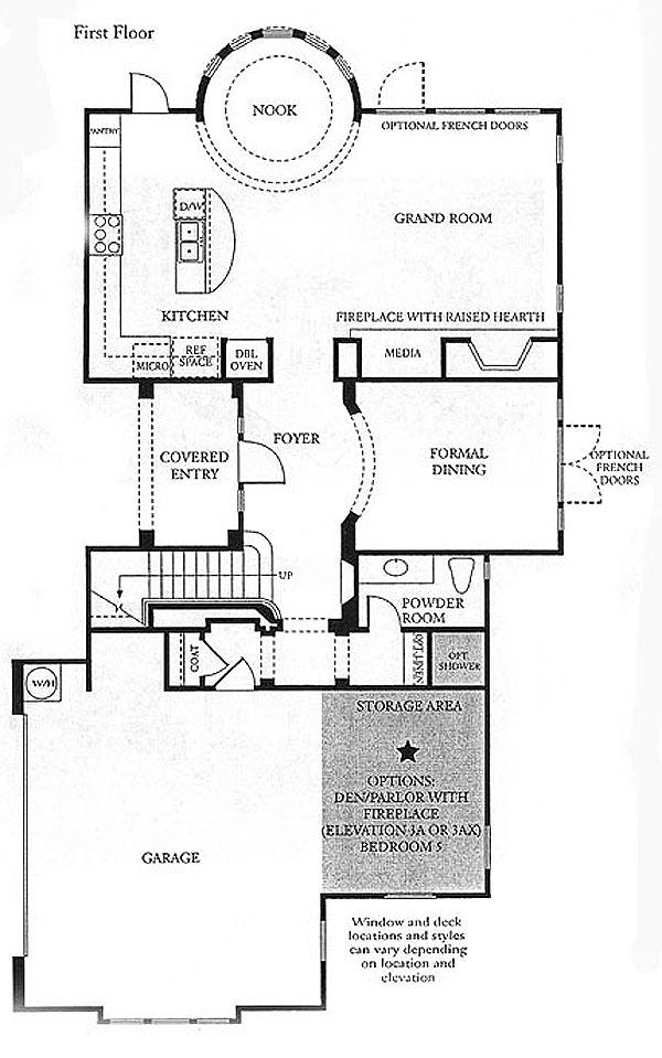 Valencia Bridgeport The Cove Plan 3 first floor floor plan
