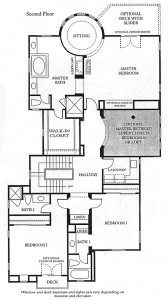 Valencia Bridgeport The Cove Plan 3 second floor floor plan