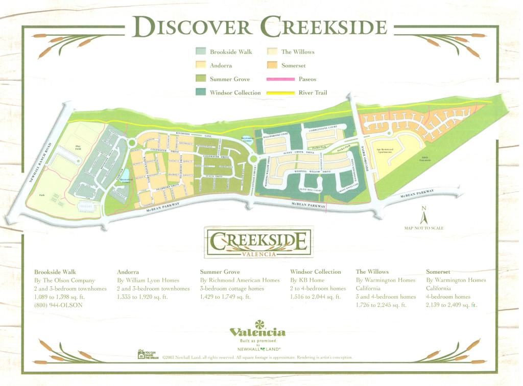 Creekside Valencia Ca map