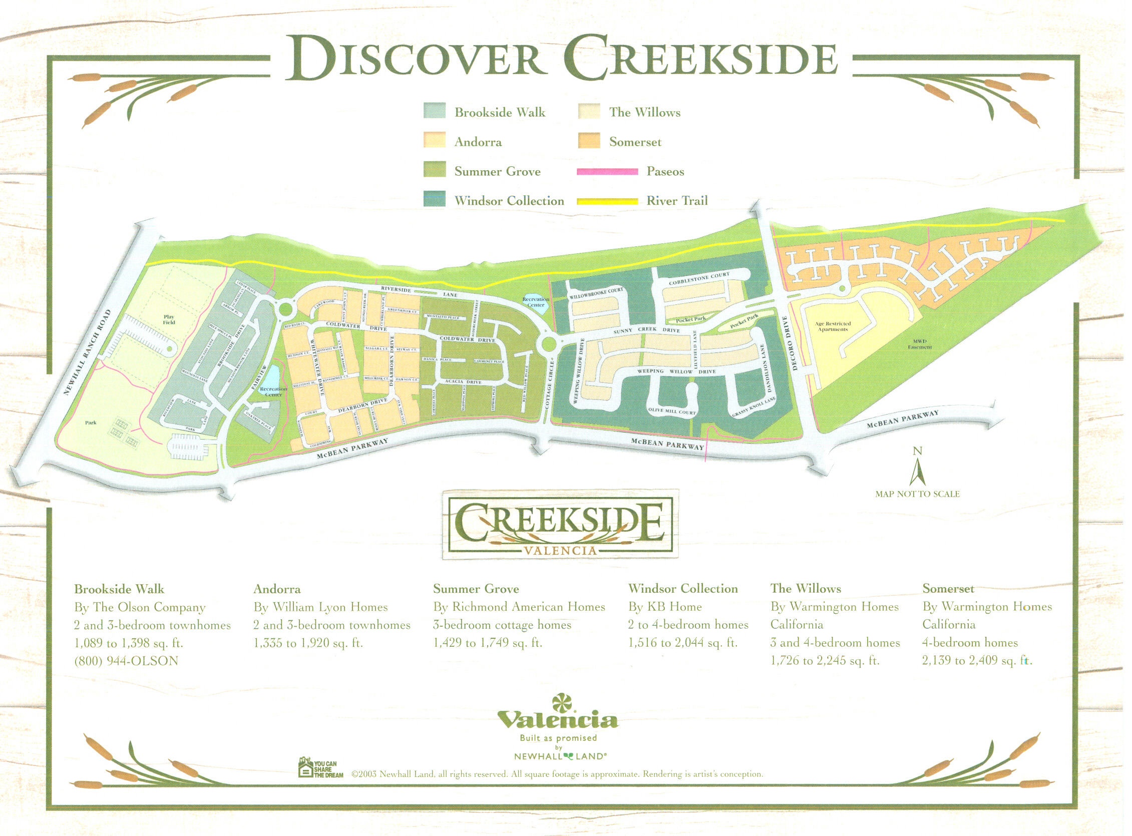 Valencia Creekside Map