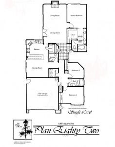 Valencia Summit Chelsea Tract Plan 82 Single Story Floor Plan