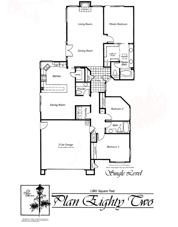 Valencia Summit Chelsea Tract Plan 82 Single Story Floor Plan
