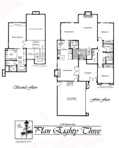 Valencia Summit Chelsea Tract Plan 83 First and Second Floor Floor Plan