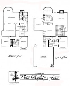 Valencia Summit Chelsea Tract Plan 84 First and Second Floor Floor Plan