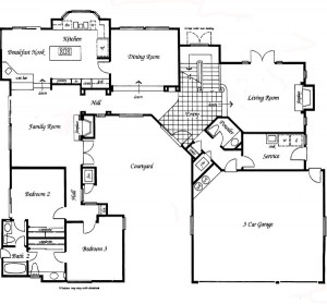 Valencia Summit Windemere Plan 91 first floor floor plan