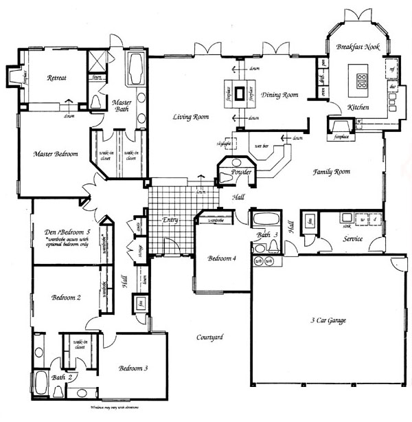 Valencia Summit Windemere Plan 94 Single Story  floor plan