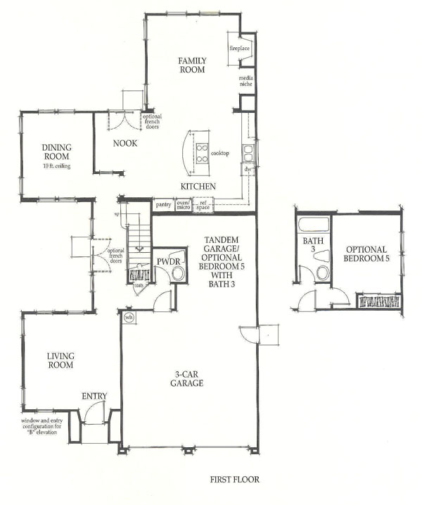 Valencia Westridge Sundance Residence 1 first floor floor plan