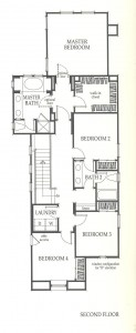Valencia Westridge Sundance Residence 1 second floor floor plan