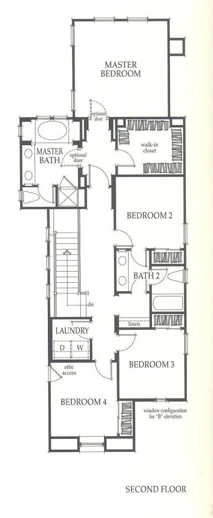 Valencia Westridge Sundance Residence 1 second floor floor plan
