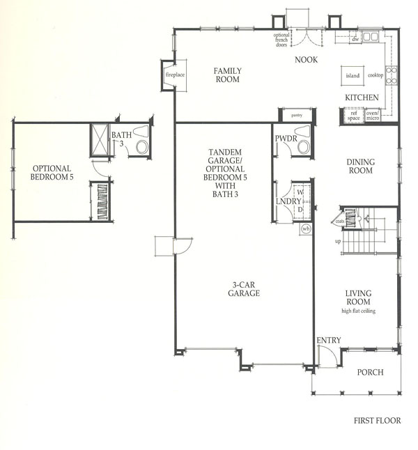 Valencia Westridge Sundance Residence 2 first floor floor plan