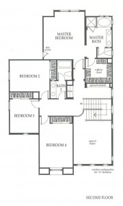 Valencia Westridge Sundance Residence 2 second floor floor plan