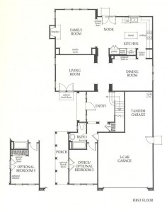 Valencia Westridge Sundance Residence 3 first floor floor plan