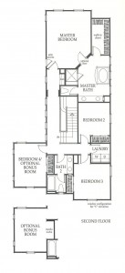Valencia Westridge Sundance Residence 3 second floor floor plan