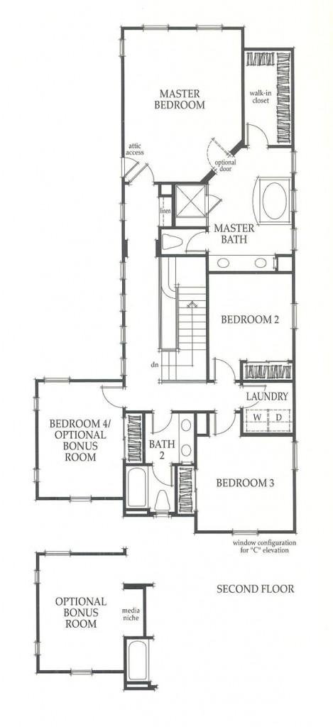 Valencia Westridge Sundance Residence 3 second floor floor plan