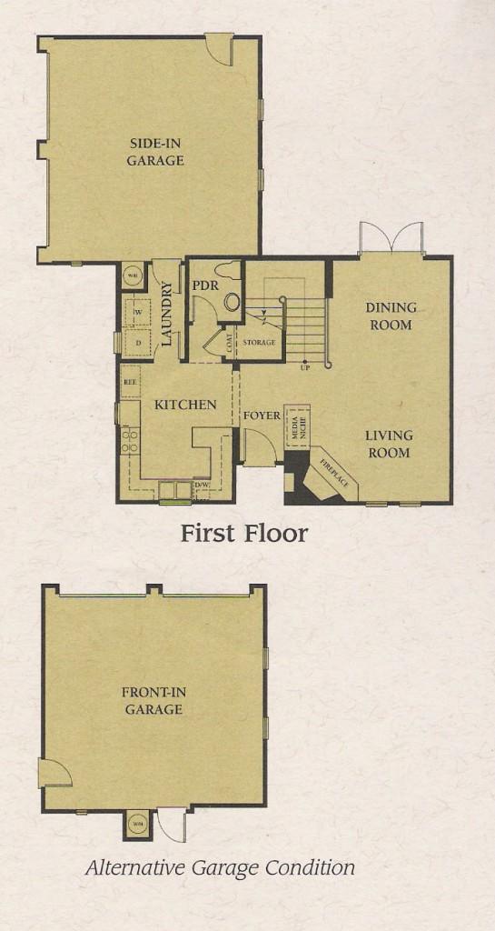 Valencia Woodlands Carmelita Plan 1 first floor floor plaln
