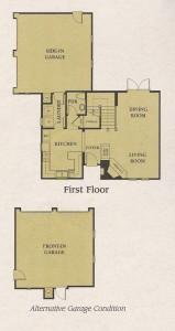 Valencia Woodlands Carmelita Plan 1 first floor floor plan