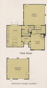 Valencia Woodlands Carmelita Tract Plan 2 first floor floor plan