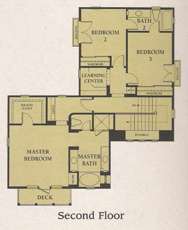 valencia woodlands carmelita tract plan 2 second floor floor plan - Second Floor Floor Plans 2