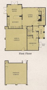 Valencia Woodlands Carmelita Tract home Plan 4 first floor floor plan