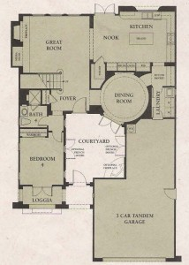 Valencia Woodlands Garland Plan 1 first floor floor plan