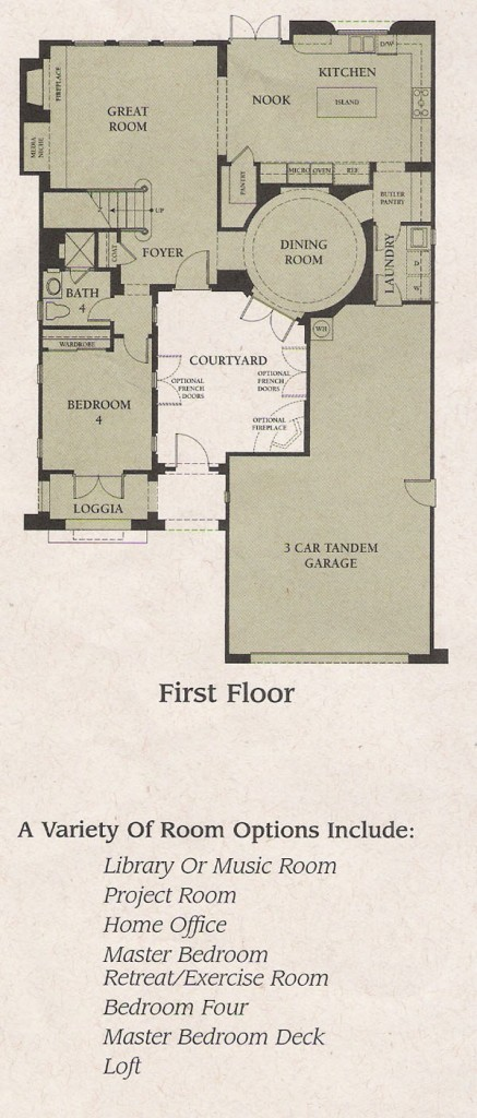 Valencia Woodlands Garland Plan 1 first floor floor plan