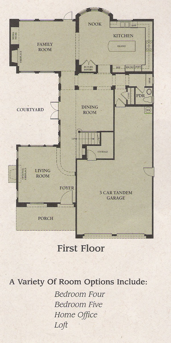 Valencia Woodlands Garland Plan 2 first floor floor plan