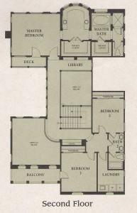 Valencia Woodlands Garland Plan 2 second floor floor plan