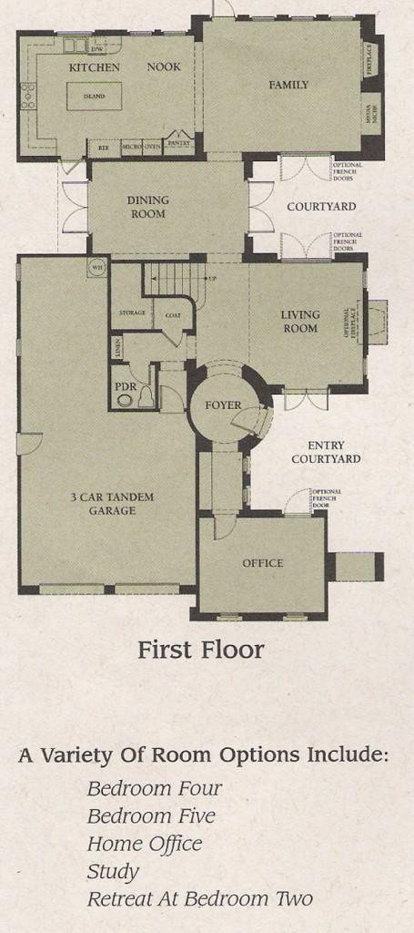 Valencia Woodlands Garland Plan 3 first floor floor plan