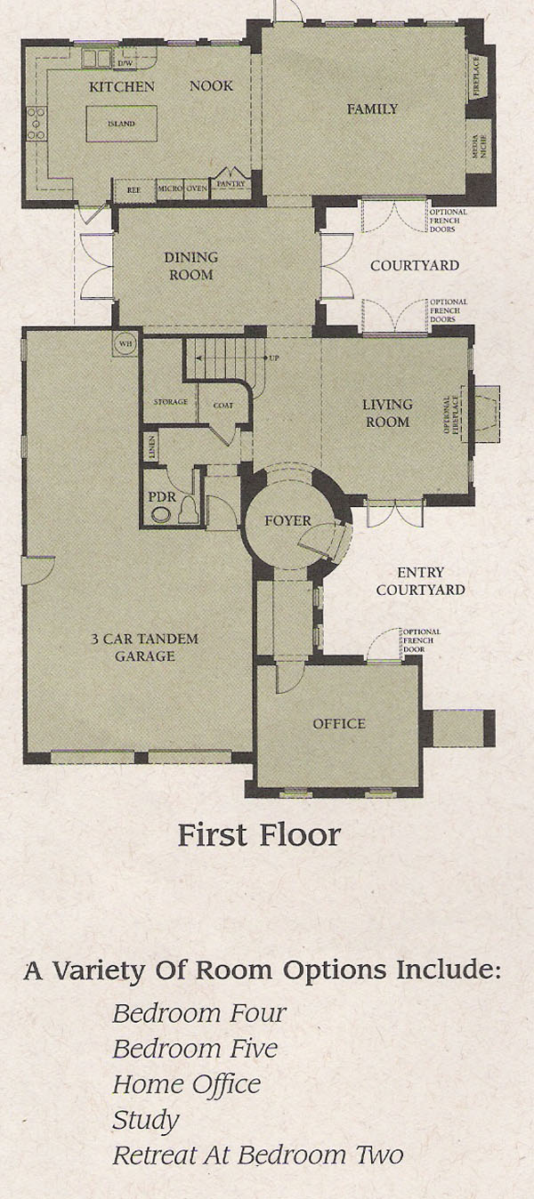 Valencia Woodlands Garland Plan 3 first floor floor plan