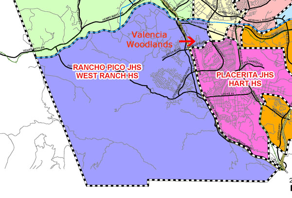 Valencia Woodlands High and Junior High map