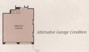 Valencia Woodlands Ironwood Plan 1 alternate garage condition