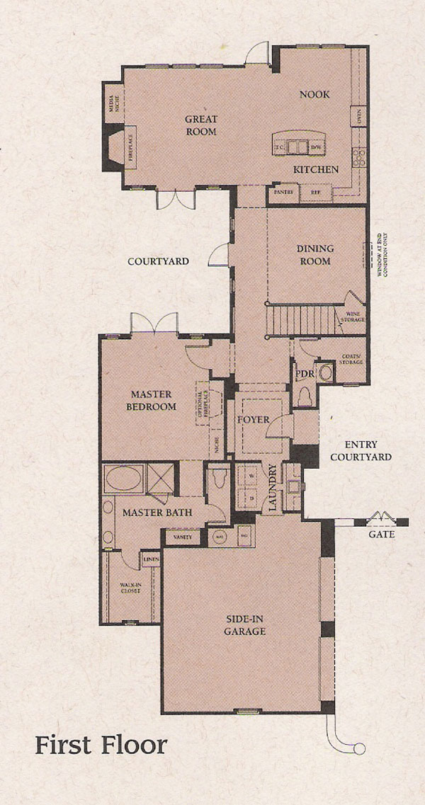 Valencia Woodlands Ironwood Plan 1 first floor floor plan