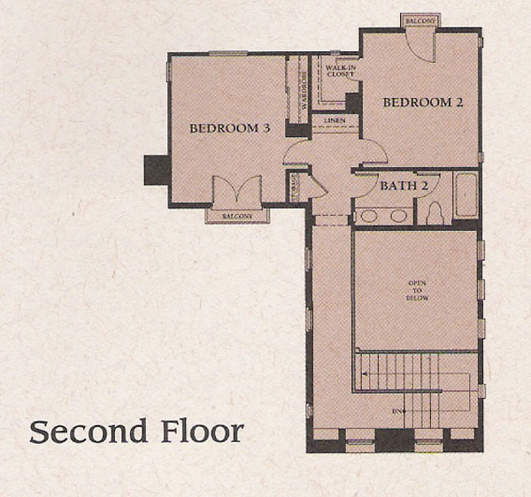 Valencia Woodlands Ironwood Plan 1 second floor floor plan