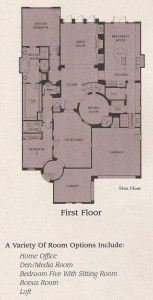 Valencia Woodlands Presidio Plan 1 first floor floor plan