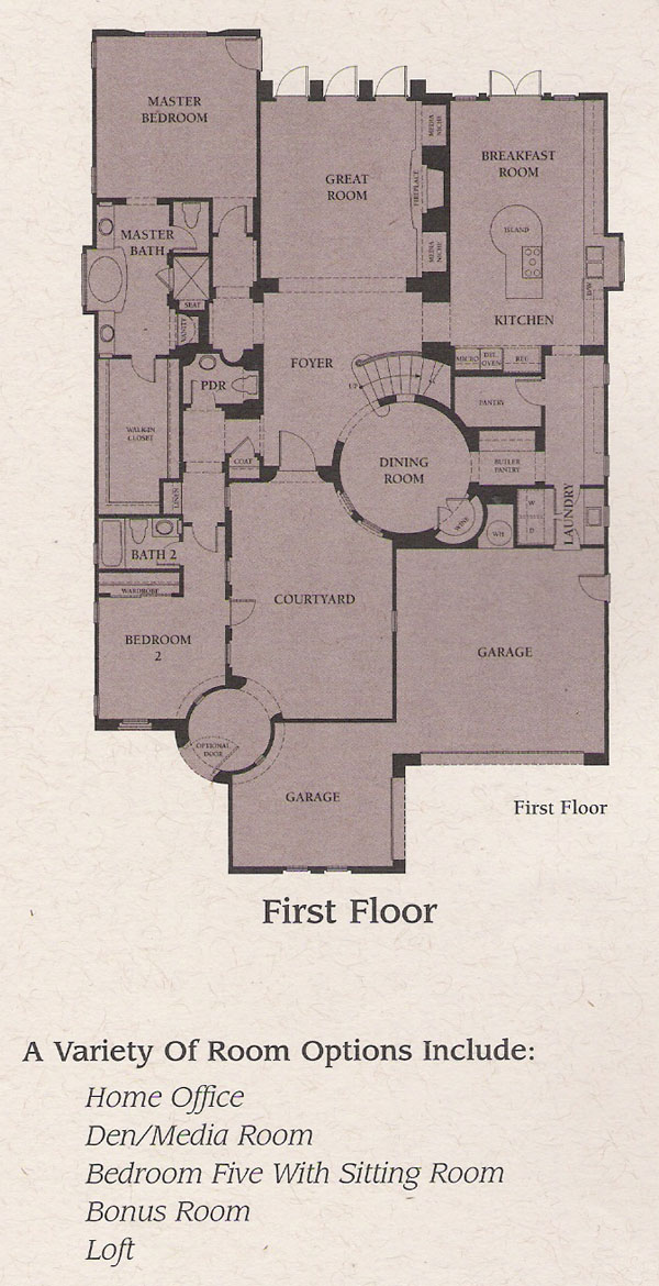 Valencia Woodlands Presidio Plan 1 first floor floor plan