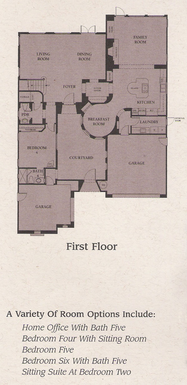 Valencia Woodlands Presidio Plan 2 first floor floor plan