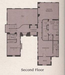 Valencia Woodlands Presidio Plan 2 second floor floor plan